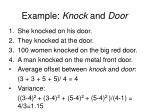 example knock and door