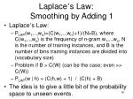 laplace s law smoothing by adding 1