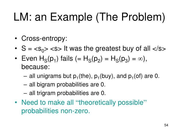 LM: an Example (The Problem)
