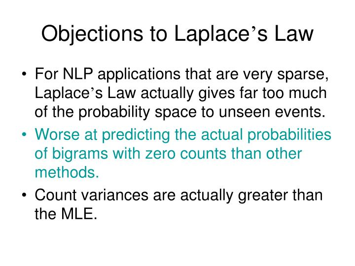Objections to Laplace