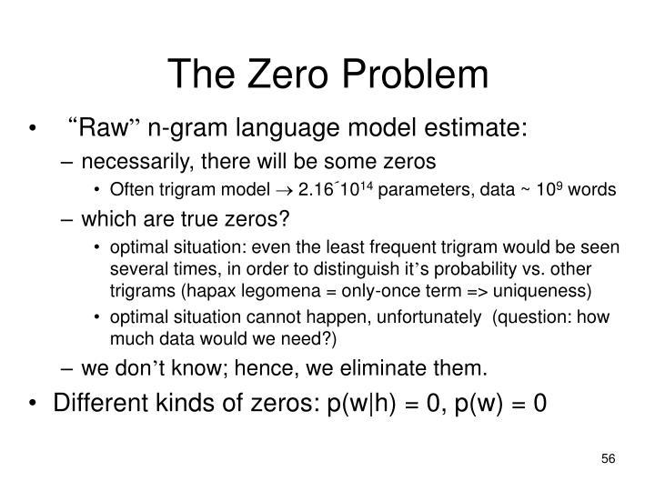 The Zero Problem