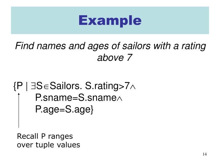 Recall P ranges