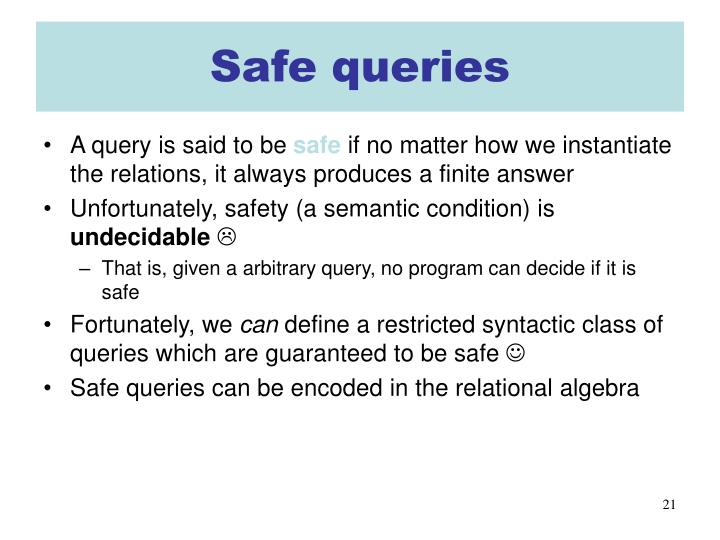 Safe queries