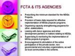 fcta its agencies