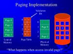 paging implementation