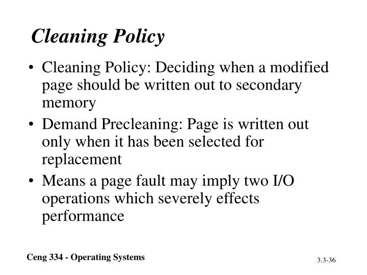 Cleaning Policy