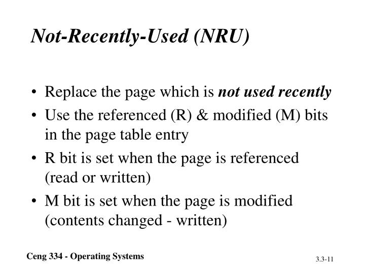 Not-Recently-Used (NRU)