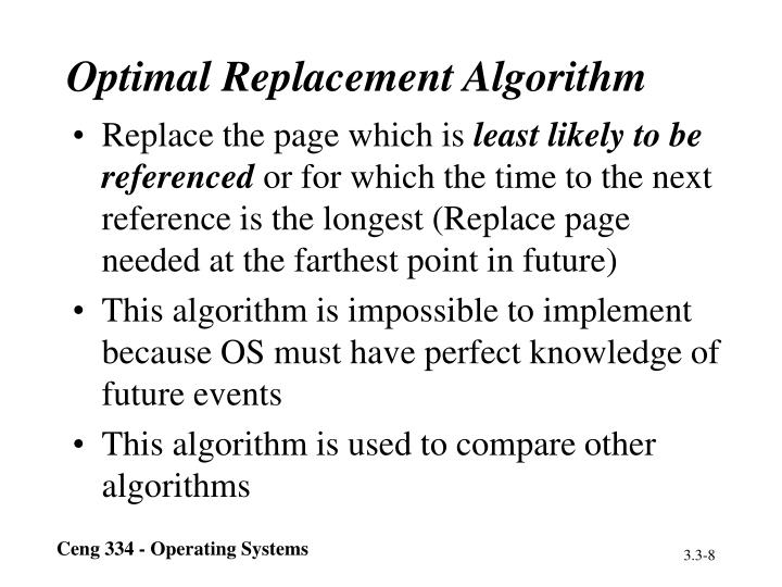 Optimal Replacement Algorithm