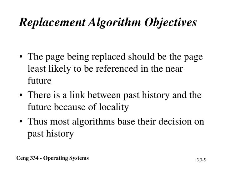 Replacement Algorithm Objectives