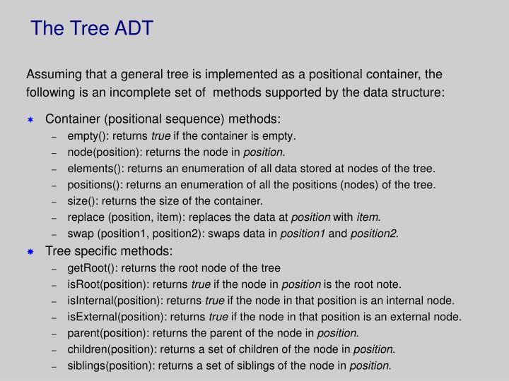 The Tree ADT