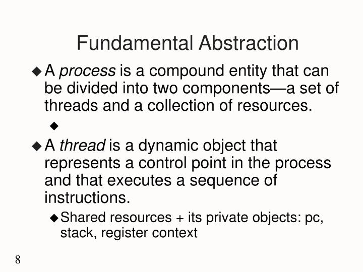 Fundamental Abstraction