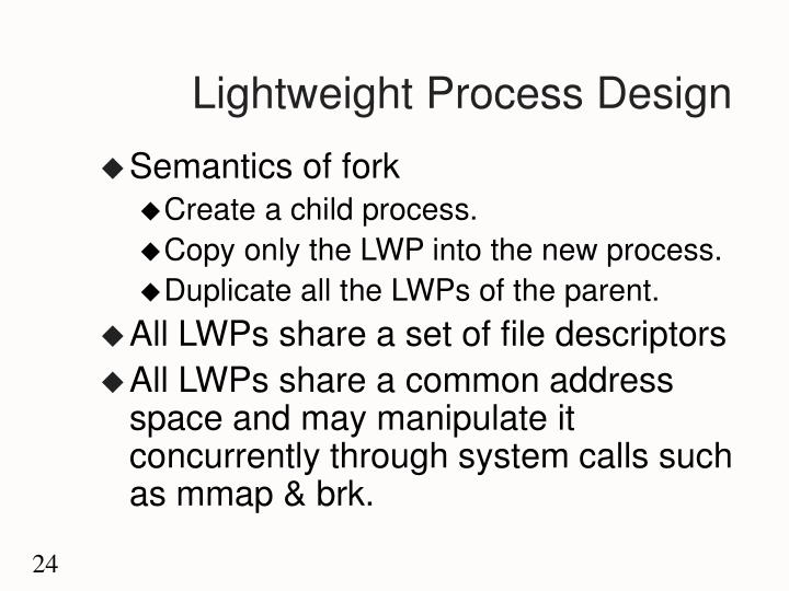 Lightweight Process Design