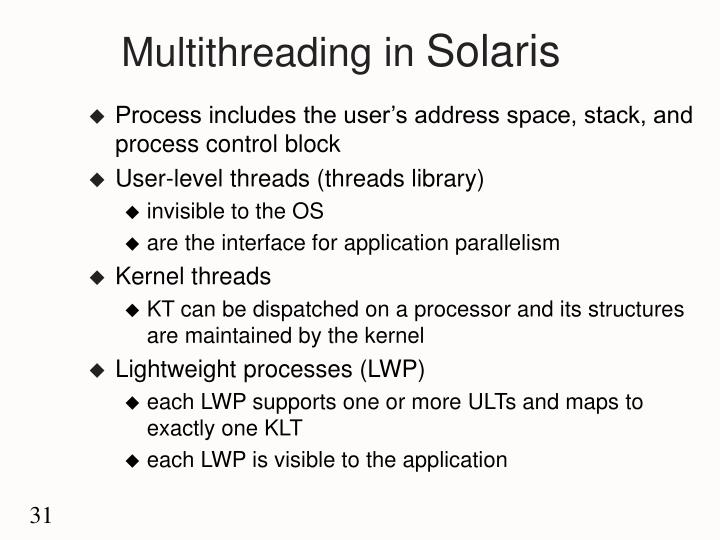 Multithreading in