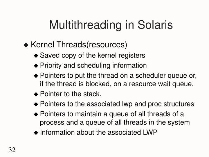 Multithreading in Solaris