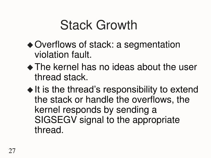 Stack Growth