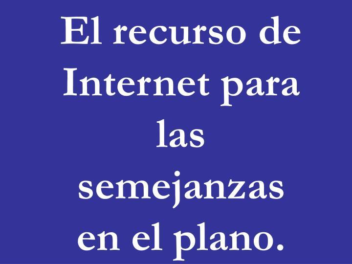 El recurso de Internet para las semejanzas en el plano.