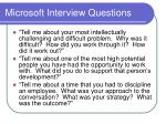 microsoft interview questions