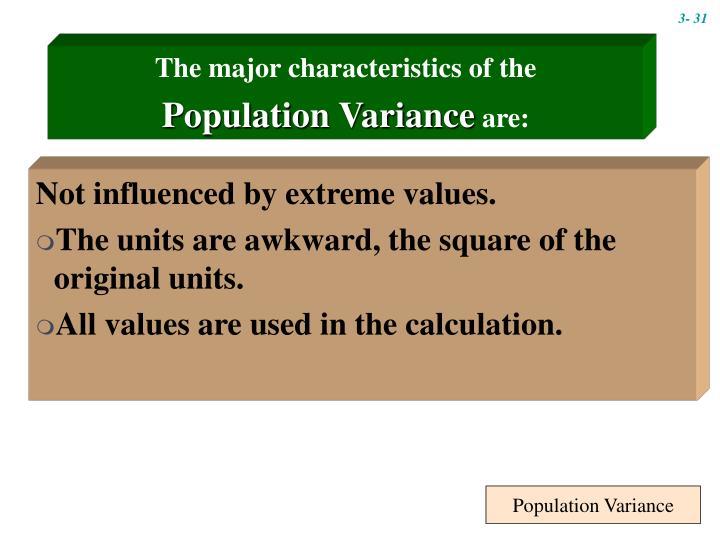 Population Variance