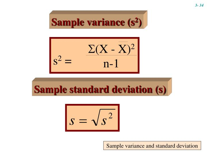 Sample variance and standard deviation