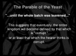 the parable of the yeast12