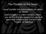 the parable of the yeast13