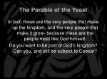 the parable of the yeast14
