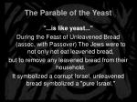 the parable of the yeast7