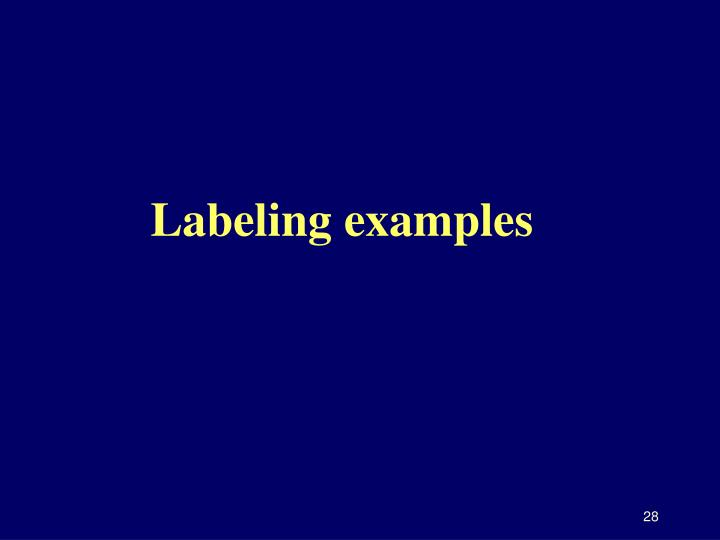 Labeling examples