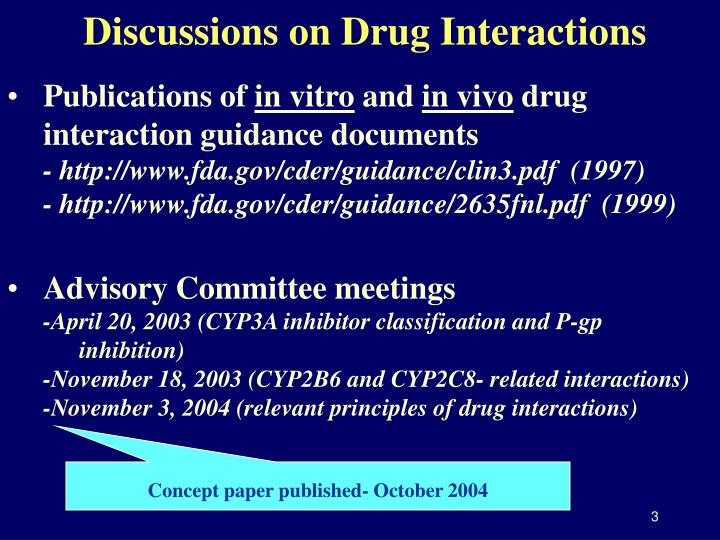 Discussions on Drug Interactions