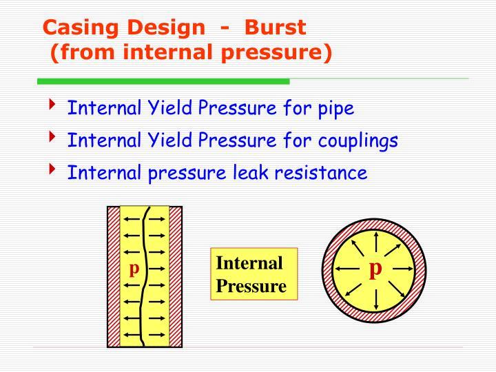 Casing Design  -  Burst