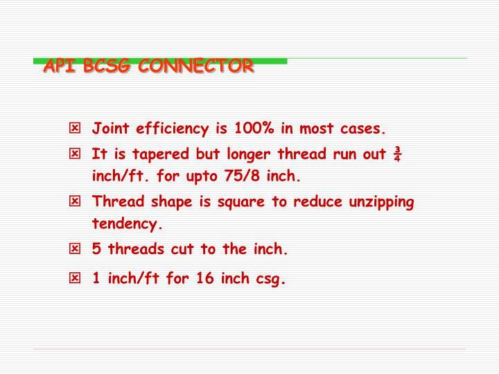 API BCSG CONNECTOR