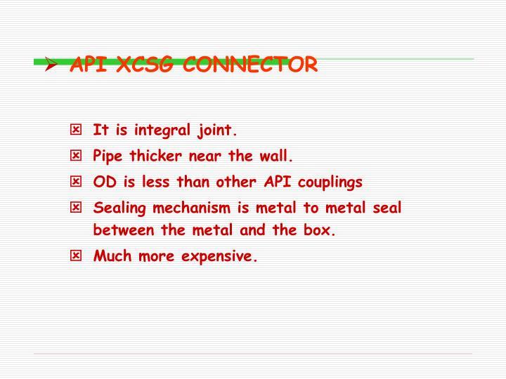 API XCSG CONNECTOR