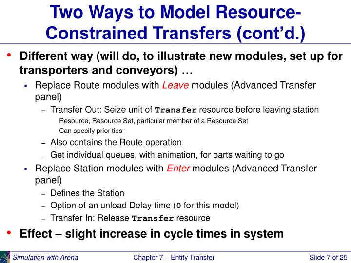 Two Ways to Model Resource-Constrained Transfers (cont'd.)