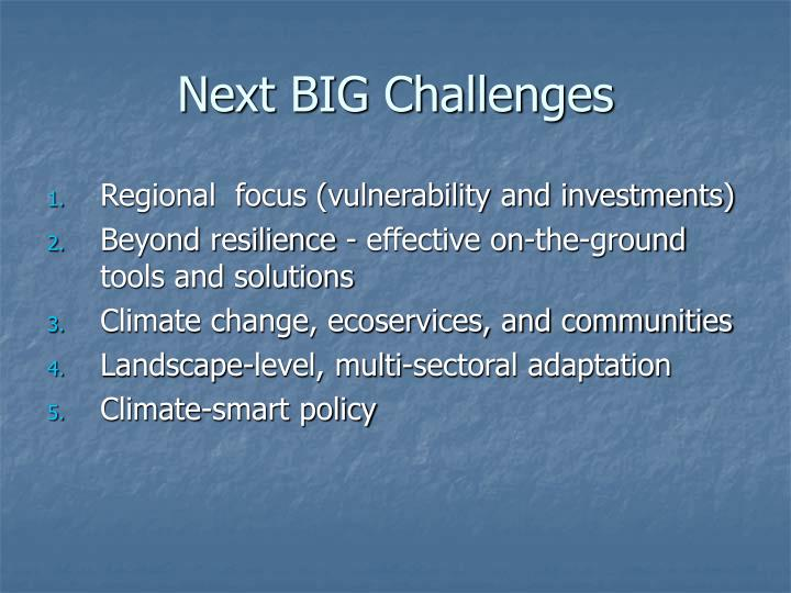Next BIG Challenges