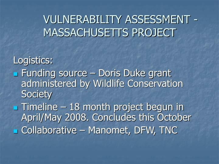 VULNERABILITY ASSESSMENT - MASSACHUSETTS PROJECT
