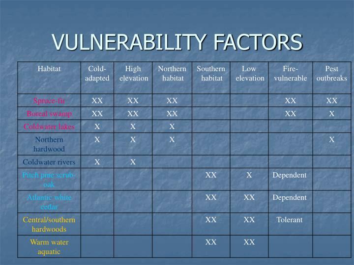 VULNERABILITY FACTORS