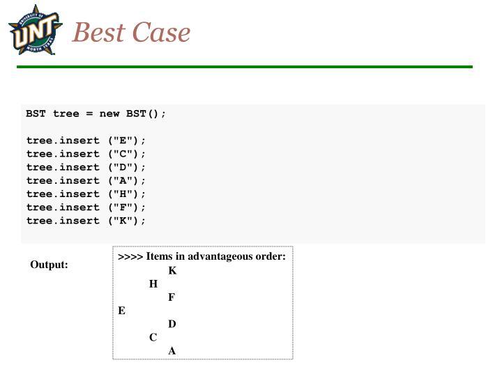 Best Case
