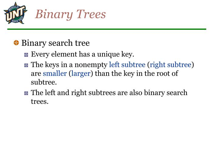 Binary trees