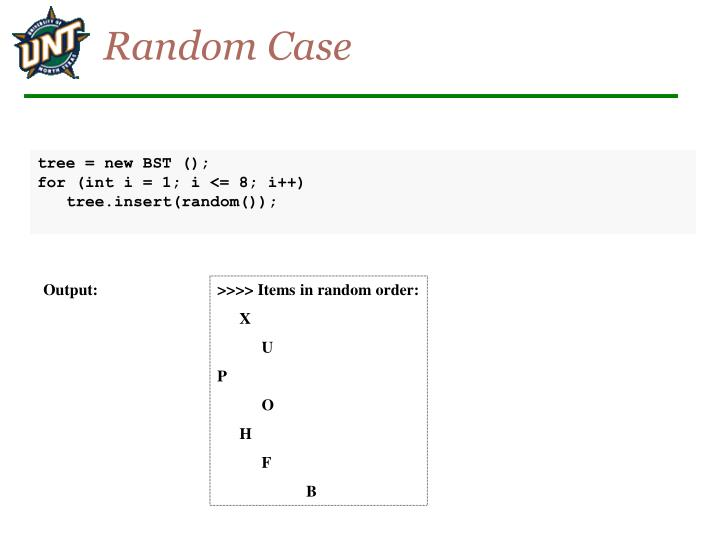 Random Case