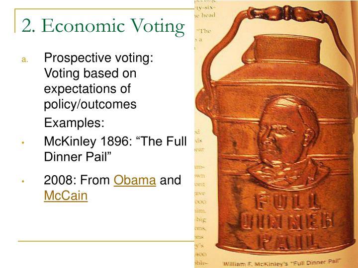 2. Economic Voting