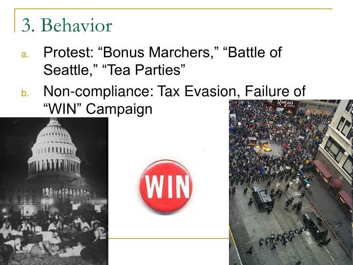3. Behavior