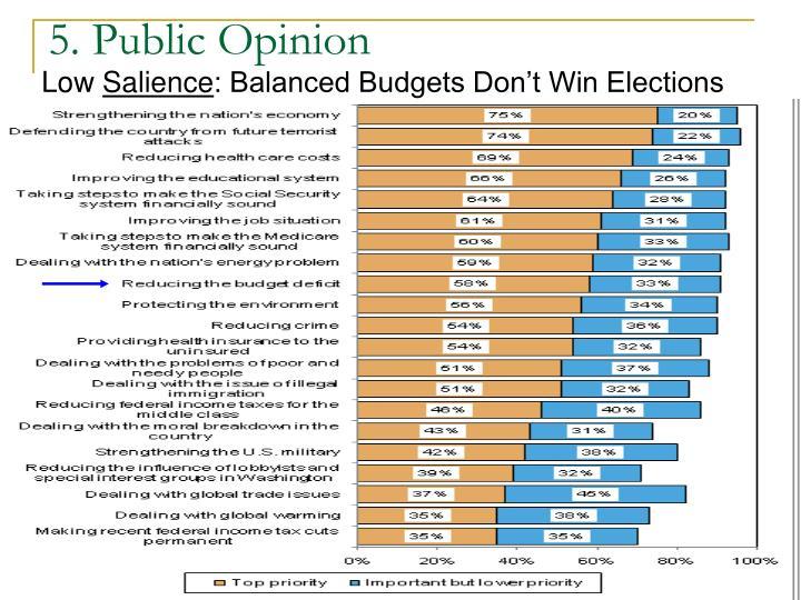 5. Public Opinion