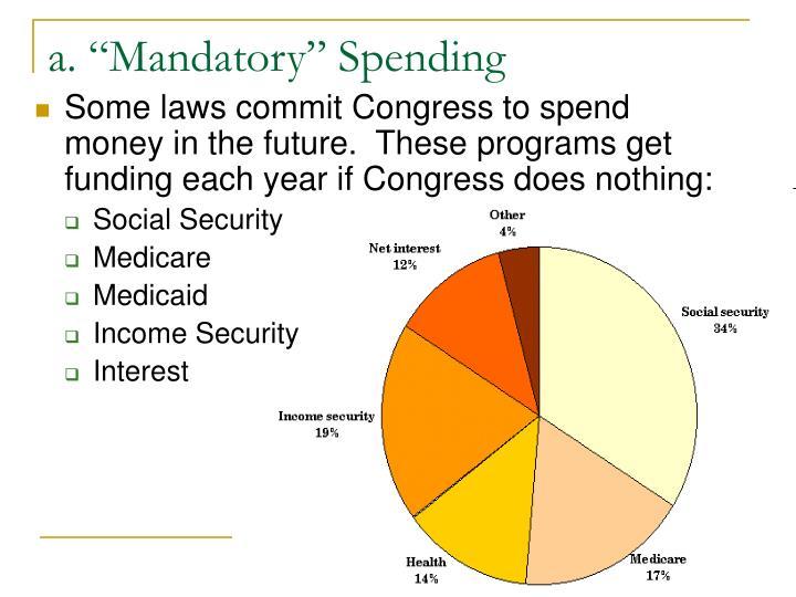 "a. ""Mandatory"" Spending"