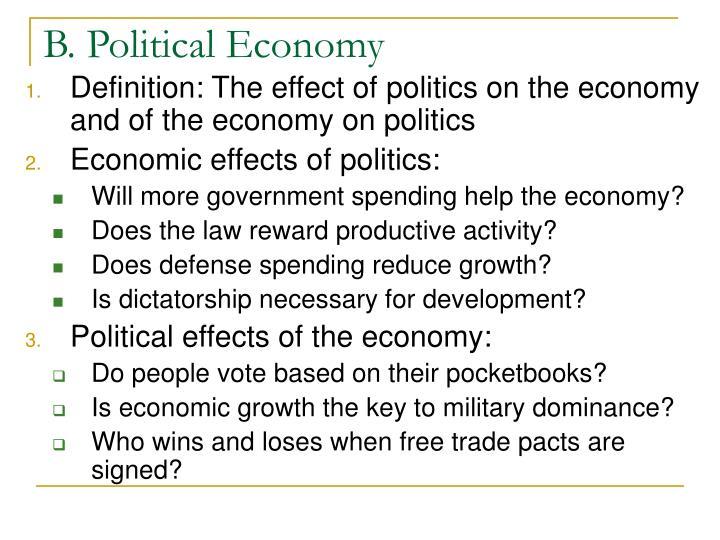 B. Political Economy