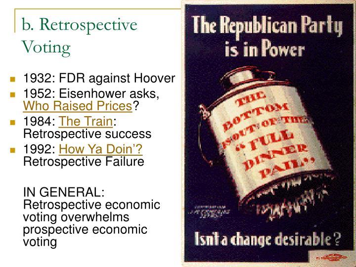 b. Retrospective Voting