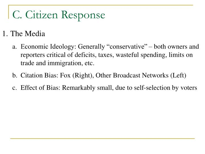 C. Citizen Response