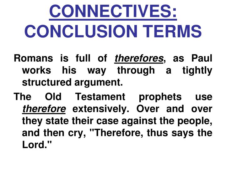 CONNECTIVES: