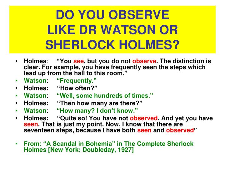 DO YOU OBSERVE