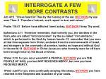 interrogate a few more contrasts