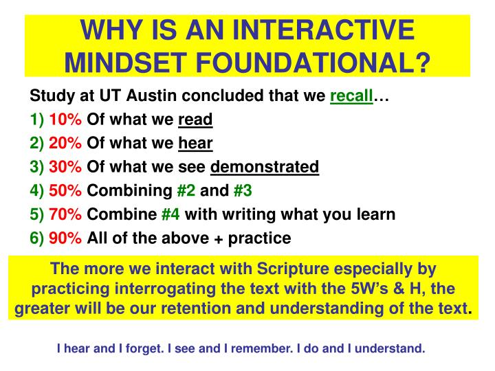 WHY IS AN INTERACTIVE MINDSET FOUNDATIONAL?